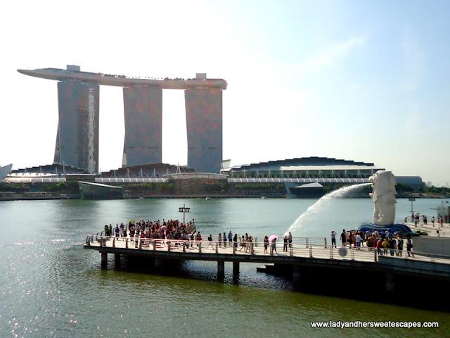 breathtaking view of Marina Bay Sands,Singapore