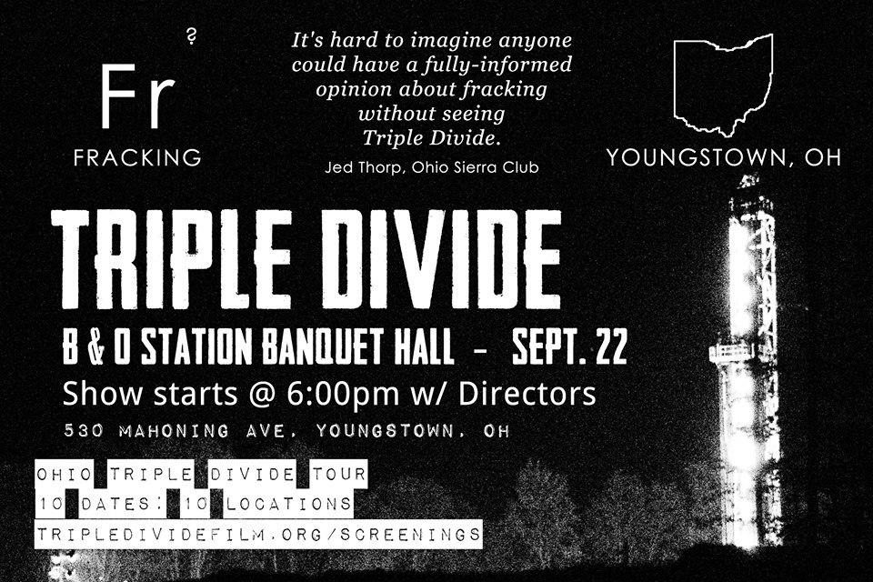 Youngstown, Ohio, new fracking film screened at Banquet Hall Sept 22, 6pm