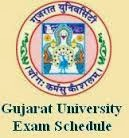 Gujarat University Time Table 2013