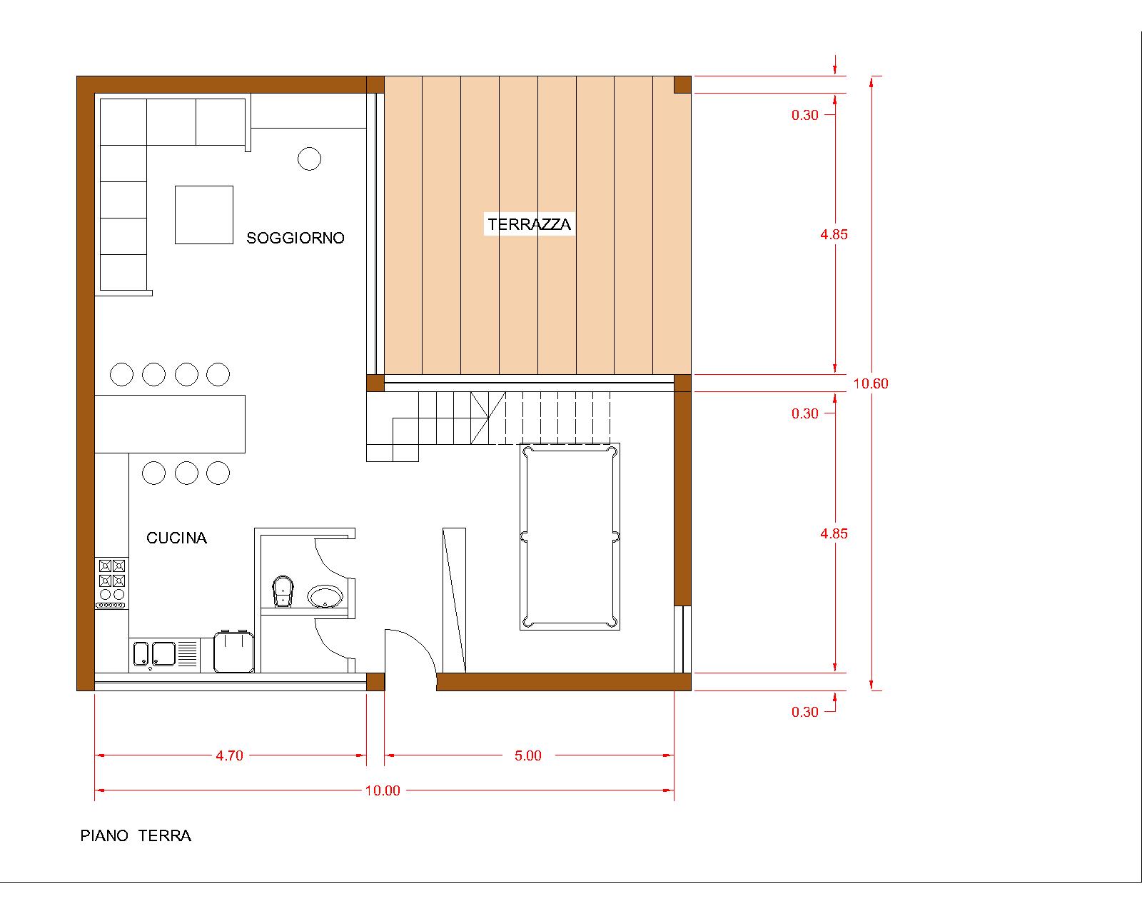 progetti di case in legno casa 165 mq terrazza coperta