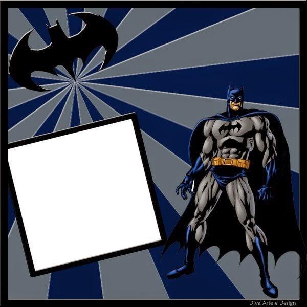 Batman En Azul Invitaciones De Cumplea 241 Os Para Imprimir