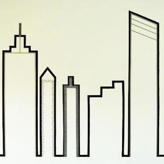 New York skyline in washitape