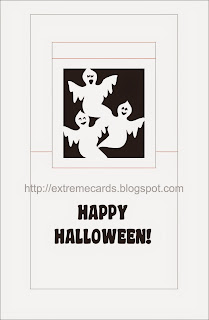 template for ghost window silhouette pop up card