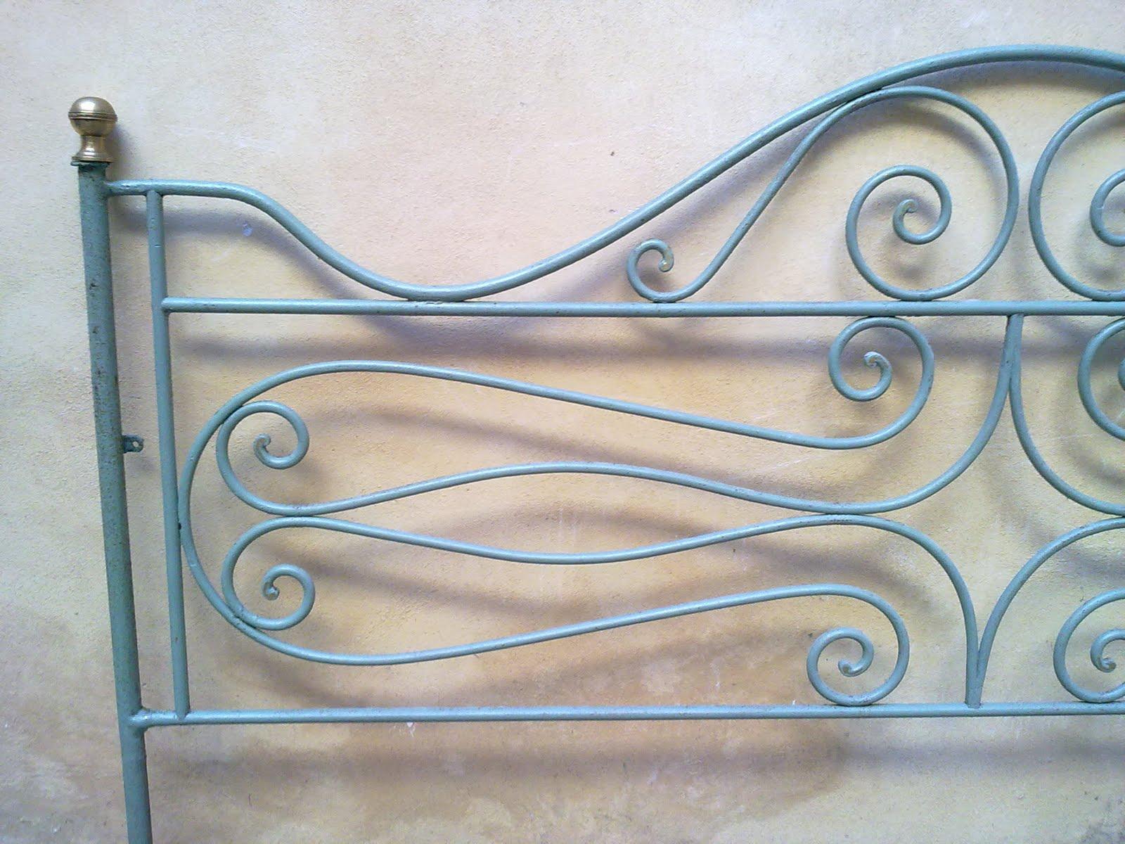 Ditta brogani maurizio lavori in ferro battuto e restauri - Testiera letto ferro battuto ...