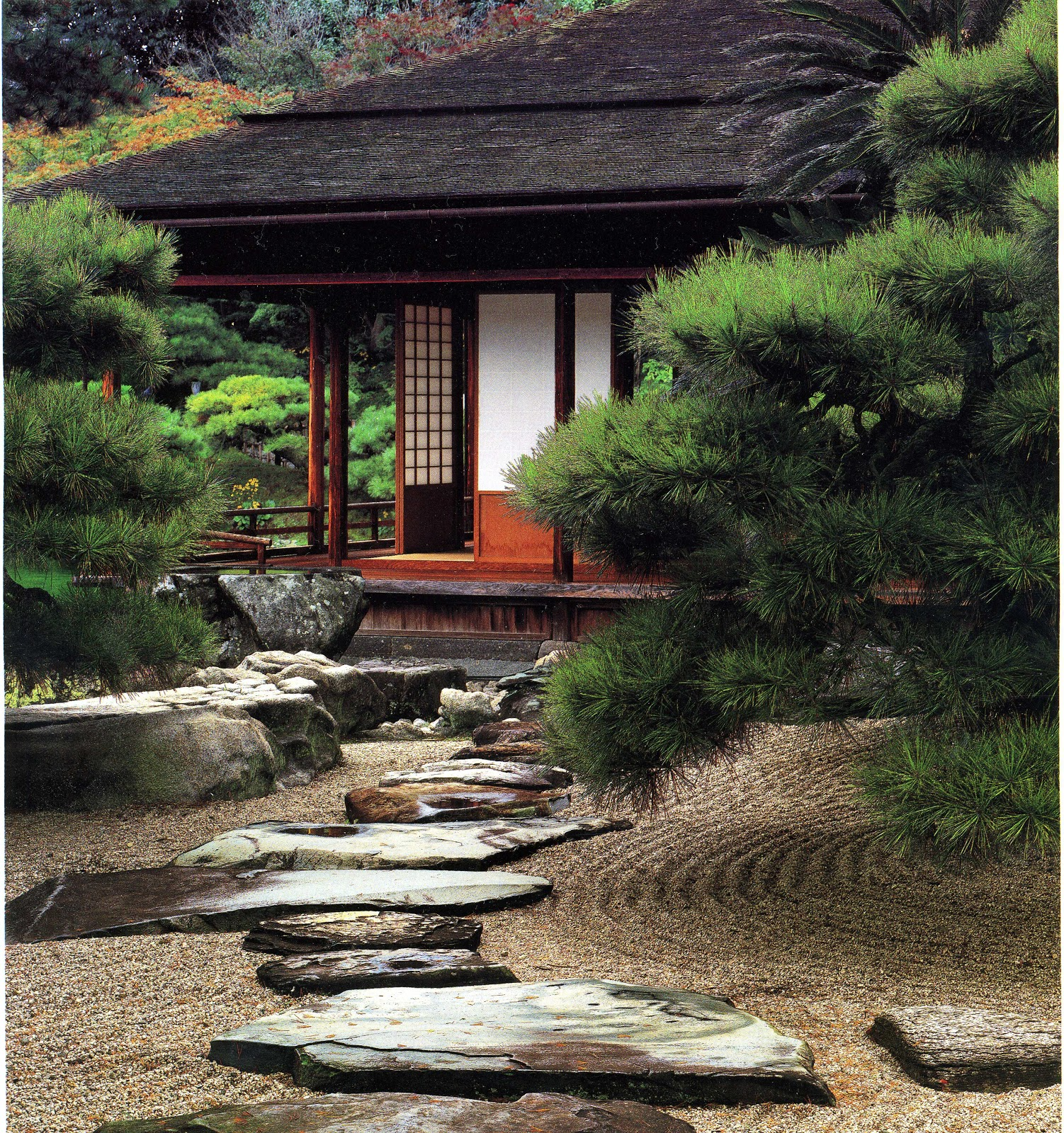 The carpentry way it all comes out in the wash for Japanese style garden buildings