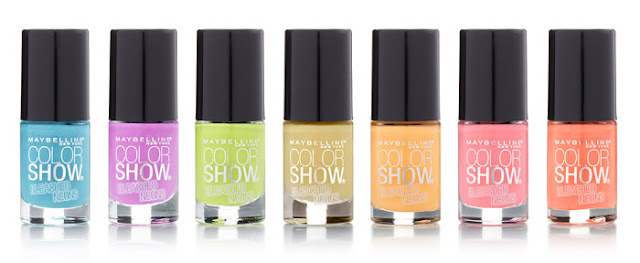 Maybelline New York color show muted neons collection