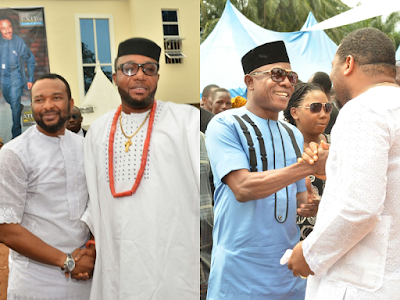 60 Exclusive Photos Of Top Celebrities, Stars At Chigozie Atuanya's Father's Burial