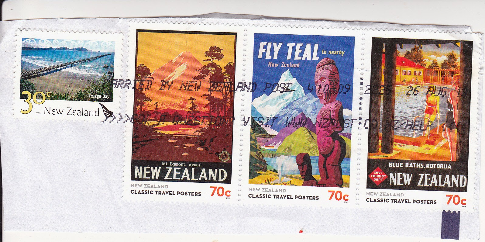 Classic Travel Posters - stamps from New Zealand