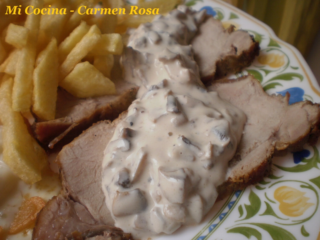 Mi cocina salsa de champi ones con lomo de cerdo al horno - Como preparar un solomillo de cerdo al horno ...