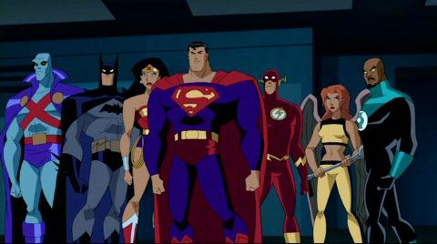 A shot from 'Divided We Fall,' one of many Justice League Unlimited episodes written by Dwayne McDuffie.