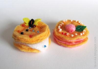 пирожные из фетра