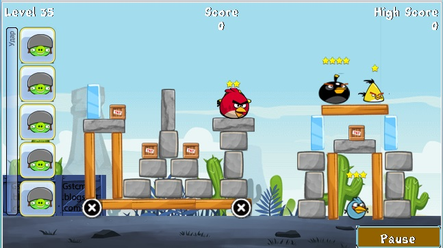 angry birds game free  for mobile c5-03