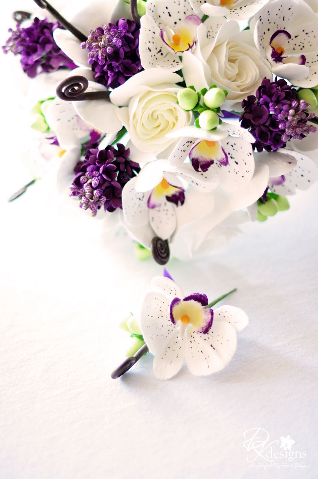Plum, Brown, Green and White Wedding - DK Designs