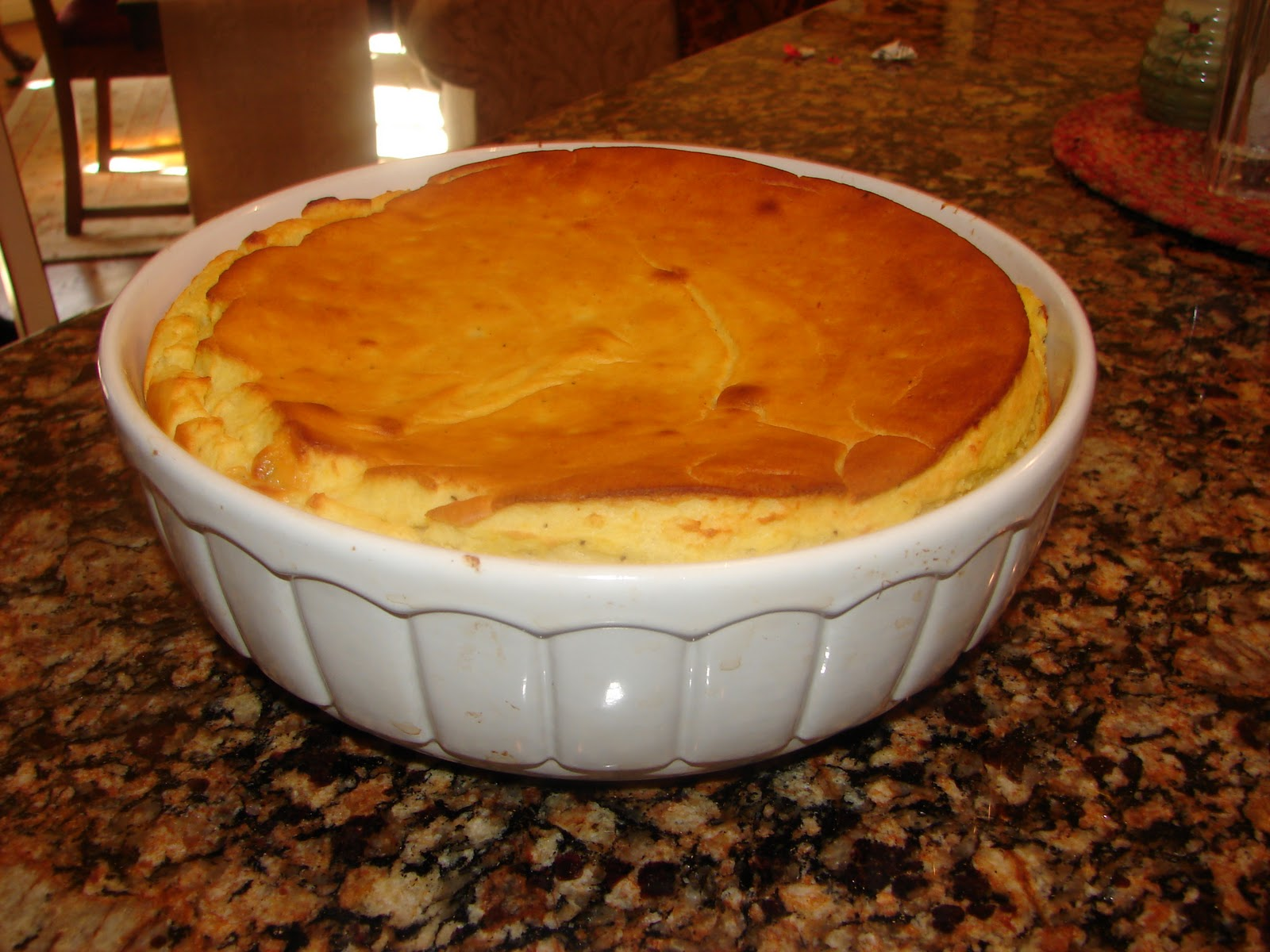 CHEESY POTATO SPOON BREAD