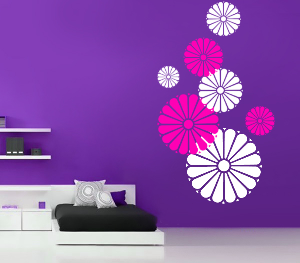 flowers wall decal - Wall Stickers Design Your Own