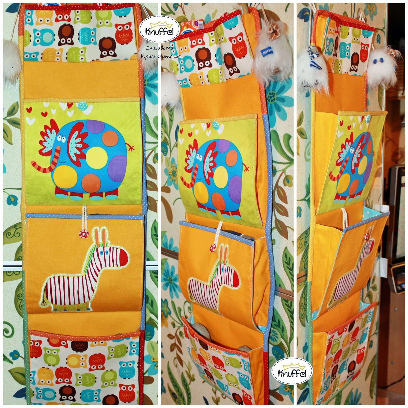 Шьем кармашки в шкафчик для детского садика