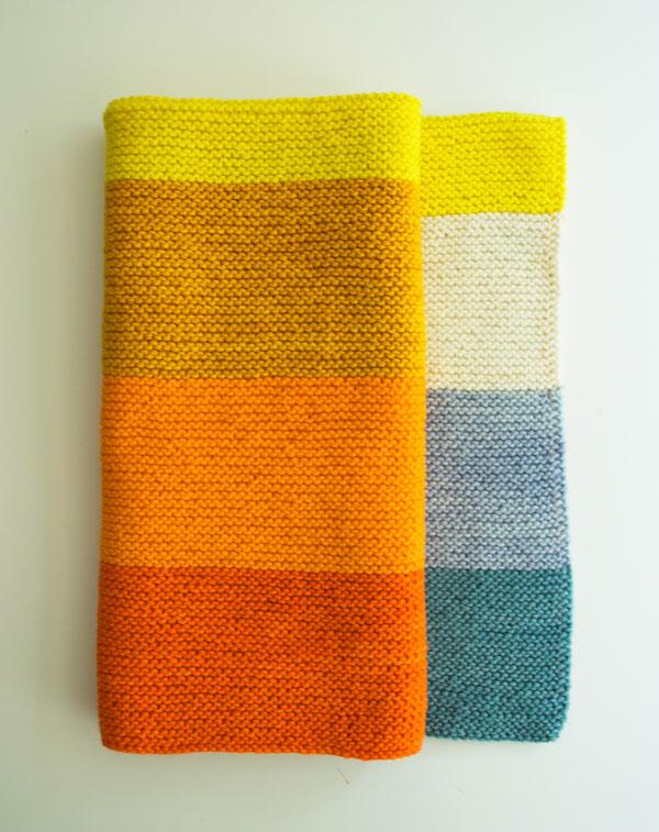 Easy Striped Baby Blanket Knitting Pattern : close knit: Love, True Love