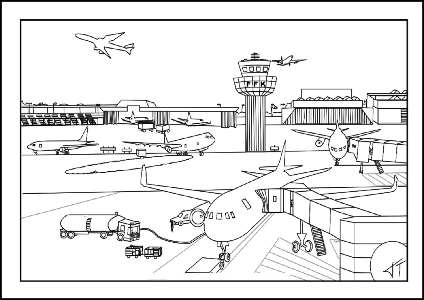 southwest airplane coloring pages - photo#11