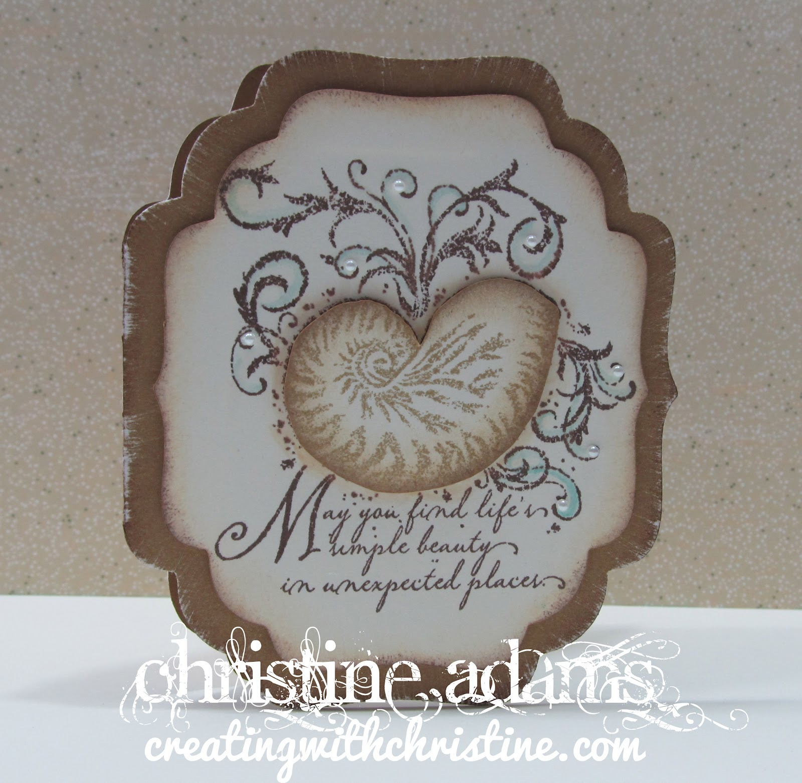 Cricut Sea Shell http://www.creatingwithchristine.com/2012/02/cricut-and-quick-cards-shell.html