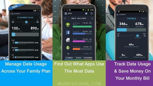 تطبيق My Data Manager  لتتبع استهلاك الإنترنت لهواتف أندرويد و آيفون