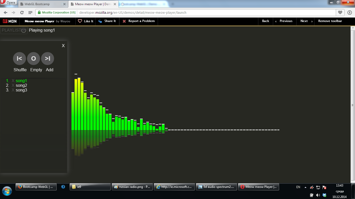 Fully functional MP3 player in a browser.