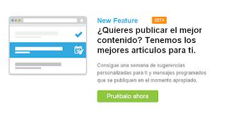 Nueva función en Hootsuite Pro - Contenido sugerido