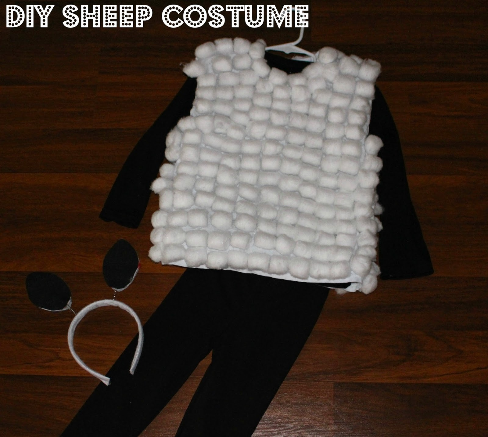 My song my strength 2014 a super easy affordable and adorable diy sheep costume i cant wait to see my daughter and all of her classmates in her first ever play wearing her solutioingenieria Image collections