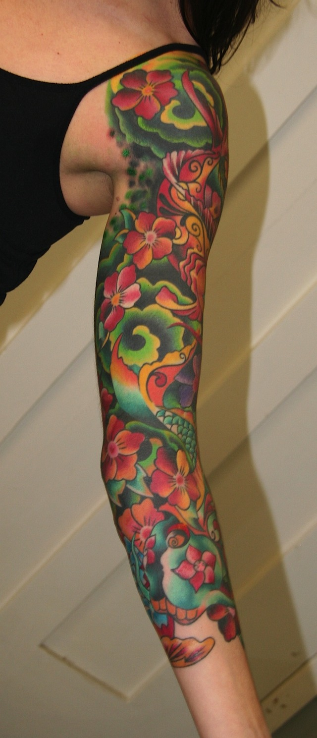 Latest girls sleeve tattoos designs wallpapers pictures for Tattoo sleeve ideas girl