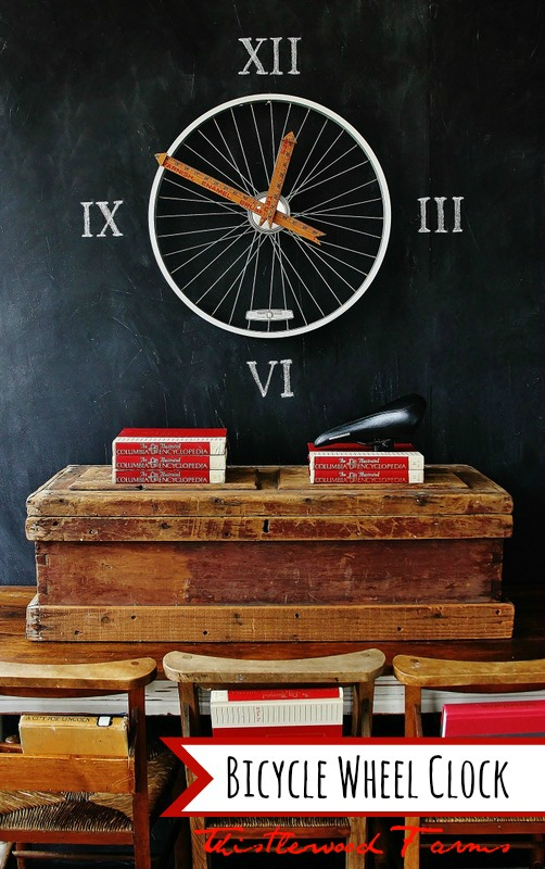 DIY 4 Wheel Bike http://happinesscrafty.blogspot.com/2013/04/how-to-make-your-ownclock.html