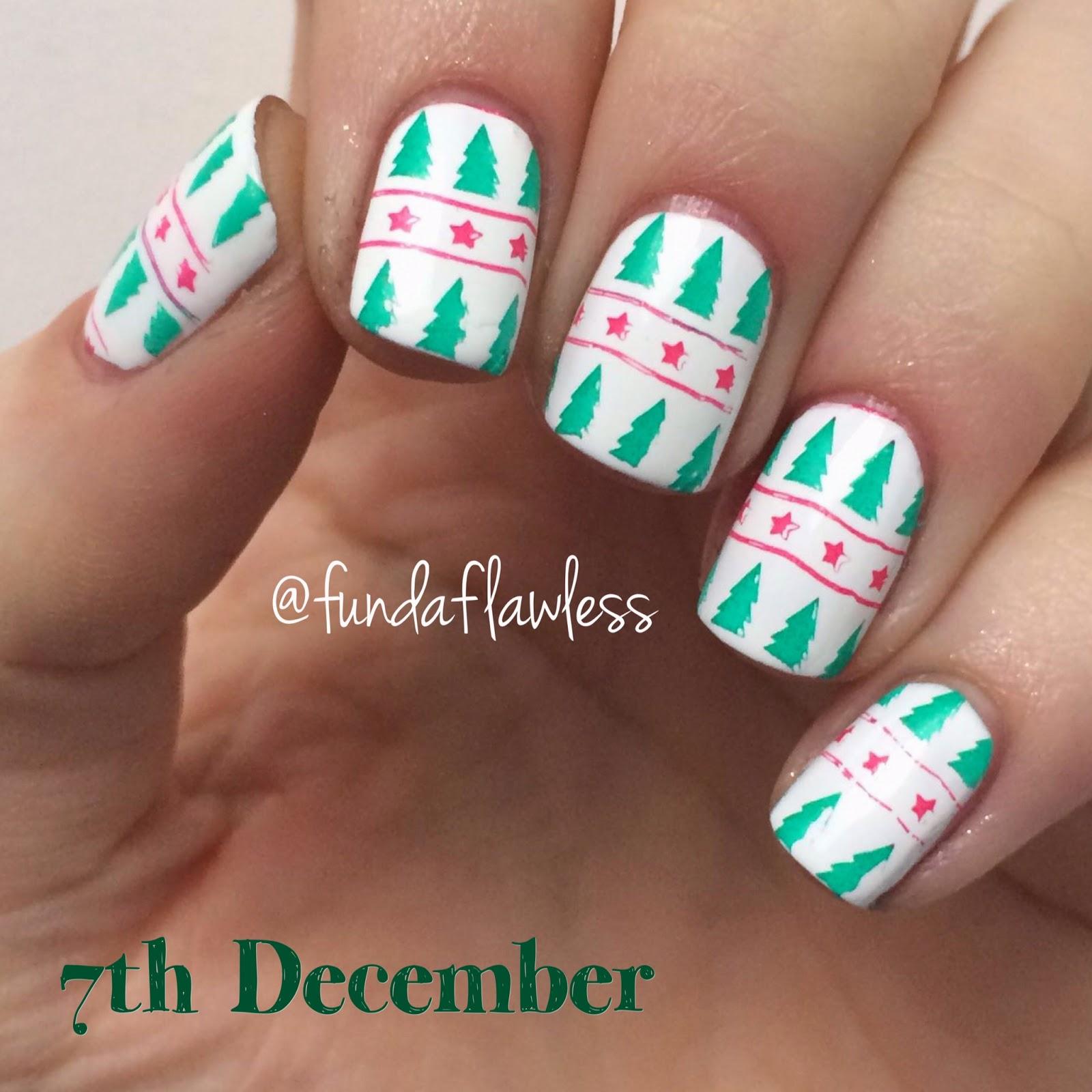 Christmas Tree MoYou Festive Collection Nail Art