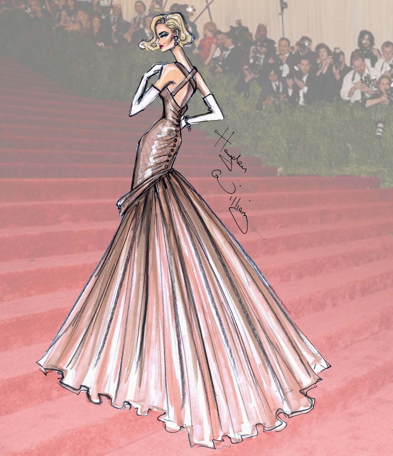 Fashion Illustrations Of Met Gala