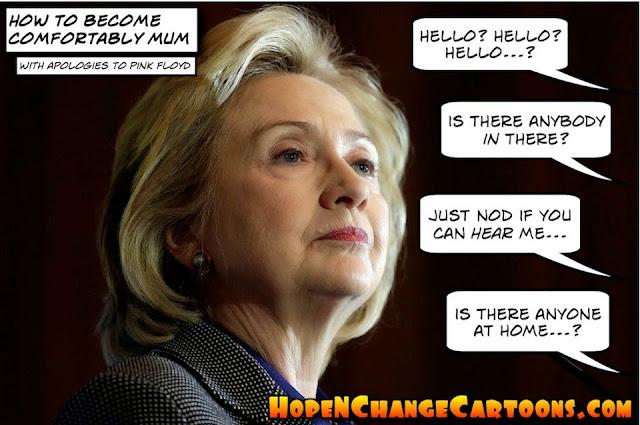 obama, obama jokes, political, humor, cartoon, conservative, hope n' change, hope and change, stilton jarlsberg, hillary, silence, email server, cia