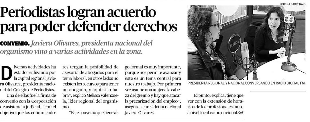 Convenio. Javiera Olivares,presidenta nacional del organismo participó en varias actividades en Puerto Montt