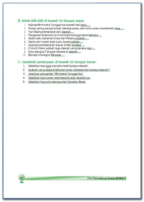 Ips Suku Bangsa Dan Budaya Bab 4 Kelas 4 Sd