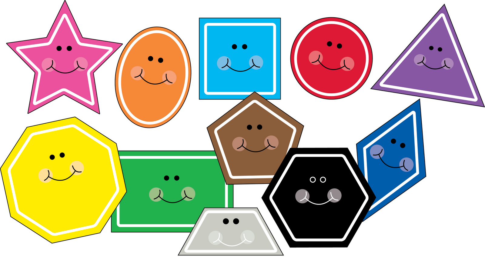 Free shape clipart!!! updated with hexagon and trapezoid!!!
