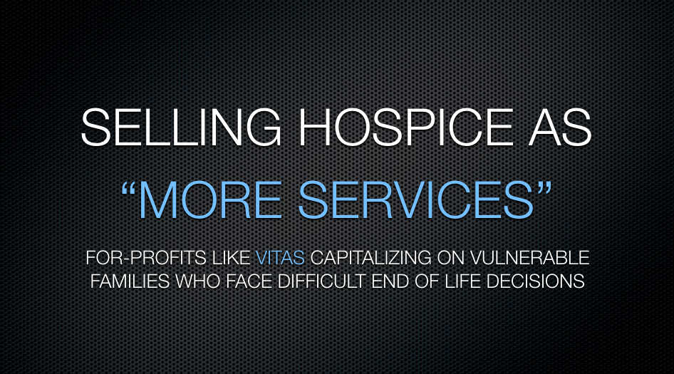 Stayin' Alive: Hospice flourishes, serving the profiteers by ...