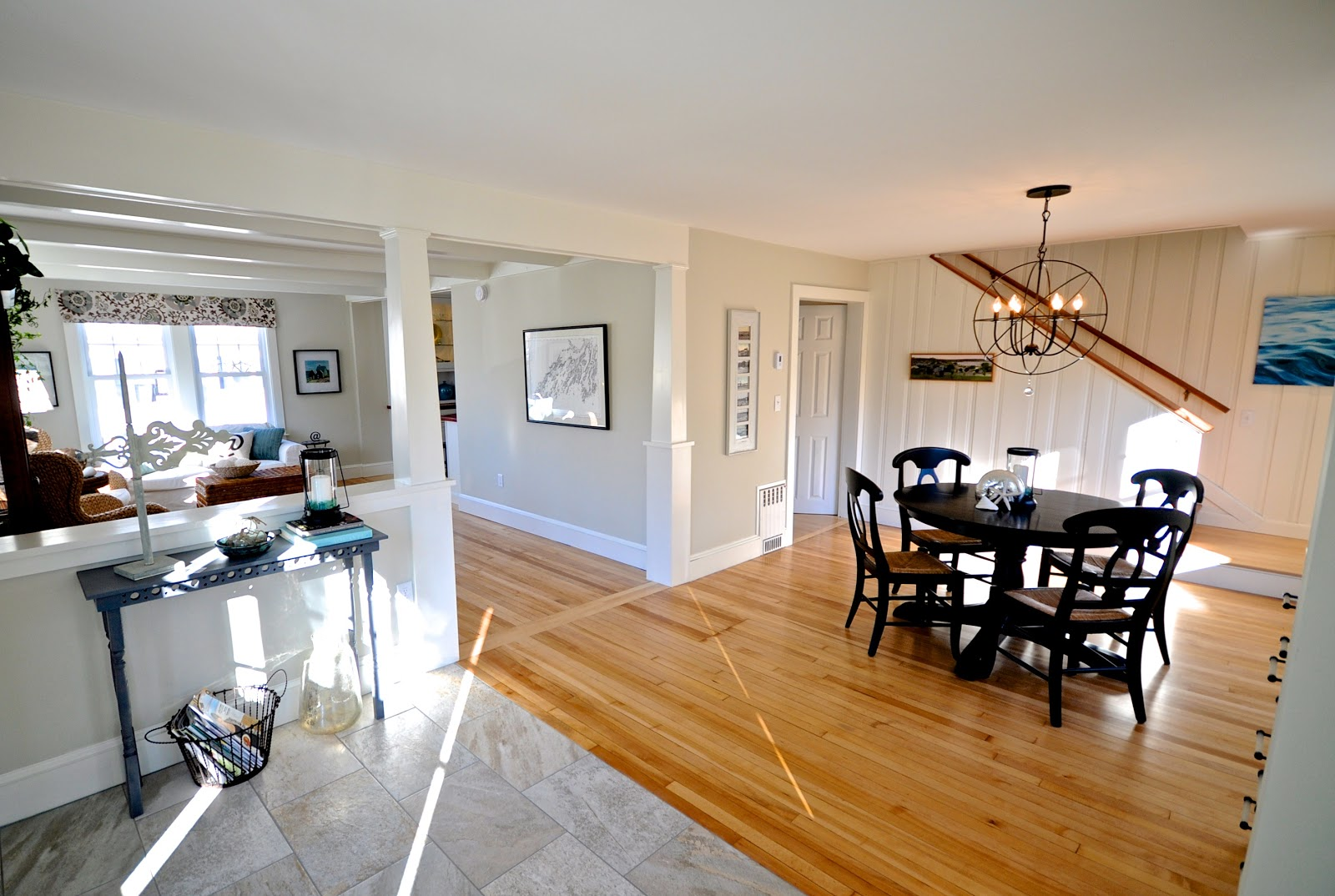 cottage dining rooms. Sopo Cottage Dining Room And Foyer Before After Knotty Pine Open Floor Plan Rdclfo Rooms