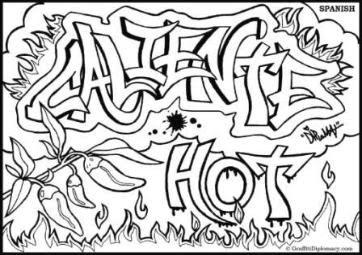 Caliente-Graffiti-Coloring-Sketches