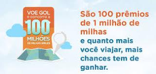 """Promoção da Gol - """"100.000.000 De Milhas Smiles"""""""