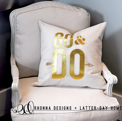 Rhonna Designs pillow collaboration with Latter-Day Home