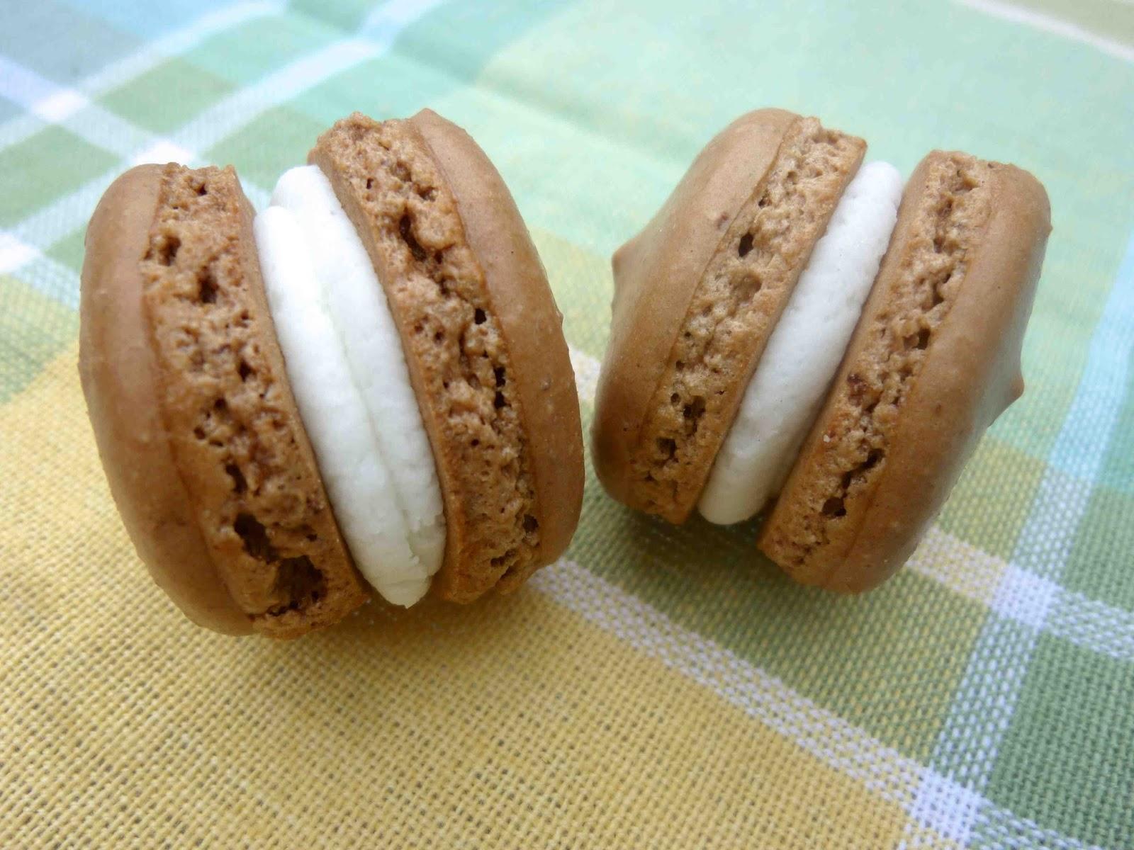 ... : Mini Espresso Macarons with Lemon Verbena Buttercream Filling