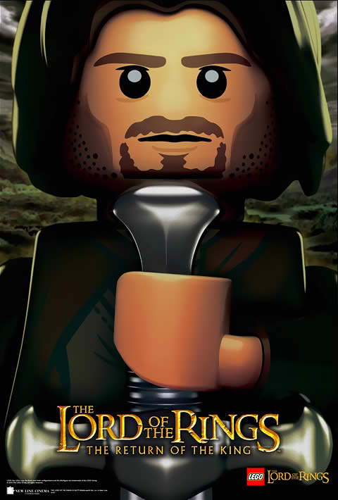 Senhor Dos Anéis Lego Poster