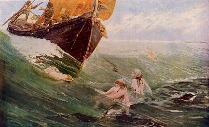The mermaids rock by edward hale 1894