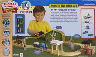 Thomas and friends wooden railway man in the hills Learning Curve 25 piece toy train track layouts
