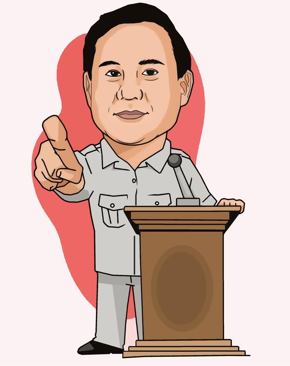 Gambar Kartun Prabowo Subianto Karikatur Calon Presiden RI 2014