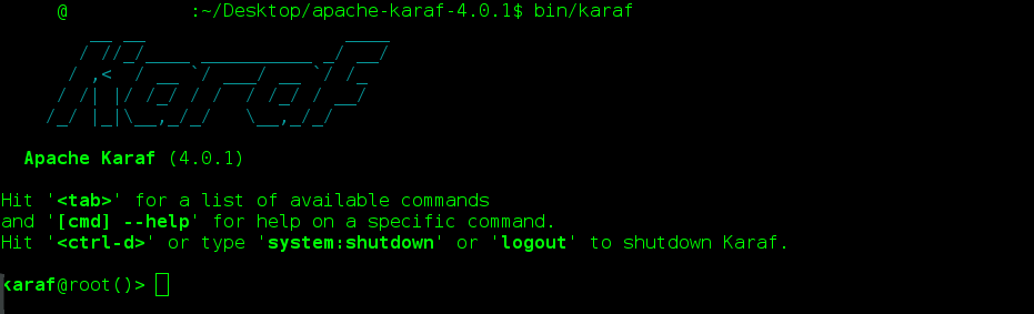 Information technology blogs learning basic of apache karaf lets add apache camel repository into apache karaf and then install on it we will therefore using this as a sample for this learning experience malvernweather Gallery