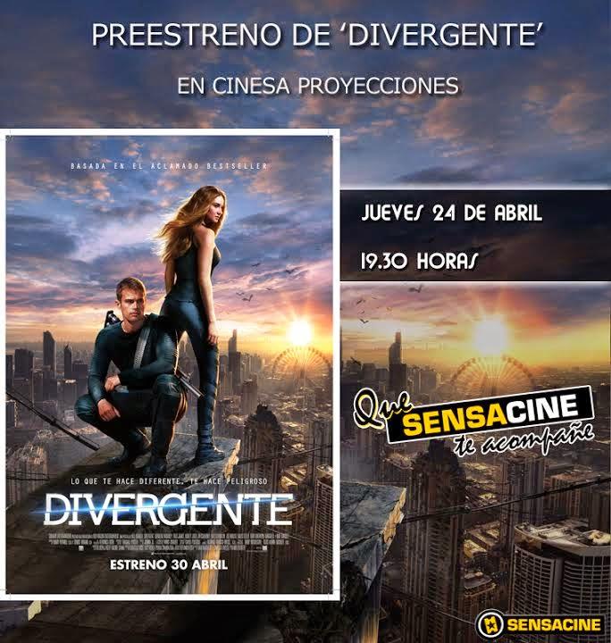 """Concurso preestreno """"Divergente"""" en Madrid"""