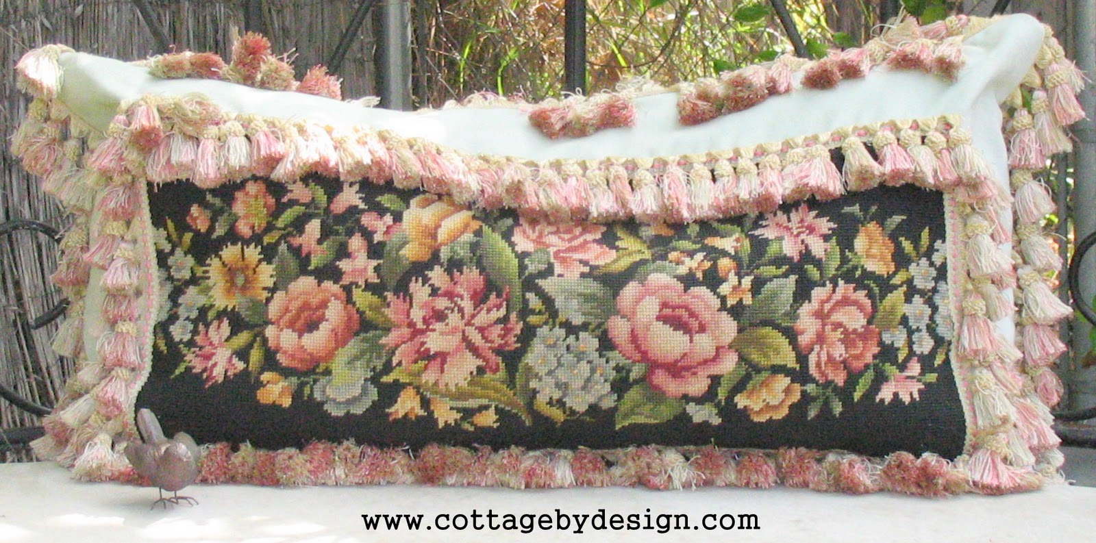 Cottage by Design with Trish Banner Vintage Needlepoint Pillows