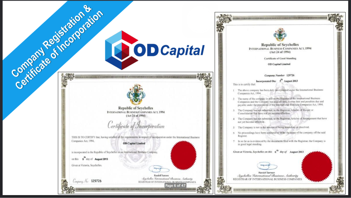 So Back To The Company Od Capital Ltd Od The Company Started As An Ib And Has Since Grew Amazingly They Launched Their Ipo Project In  And In