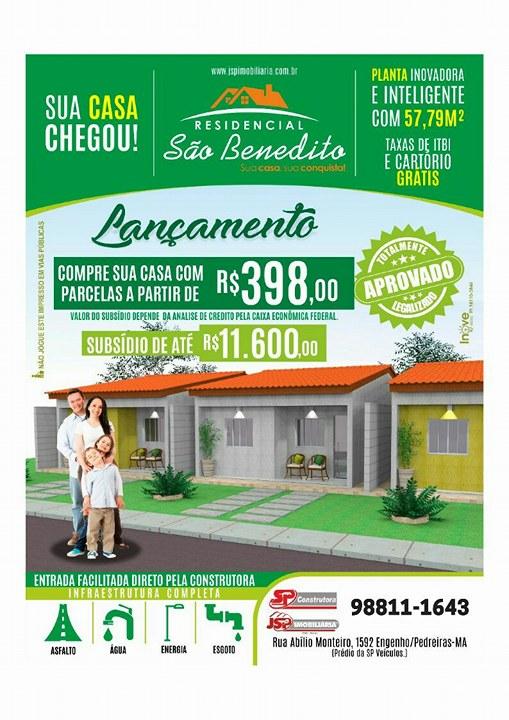 Loteamento São Benedito - A sua casa chegou!